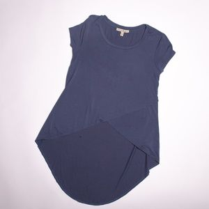 Express One Eleven Cross Front High Low Tee